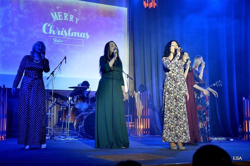 Праздничный концерт, посвященный празднованию Рождества Христова, прошел в церкви «Новое поколение»