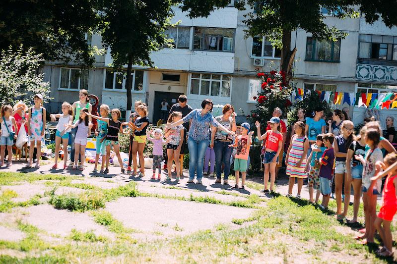 Около 150 детей собралось на празднике двора в одном из районов Павлограда