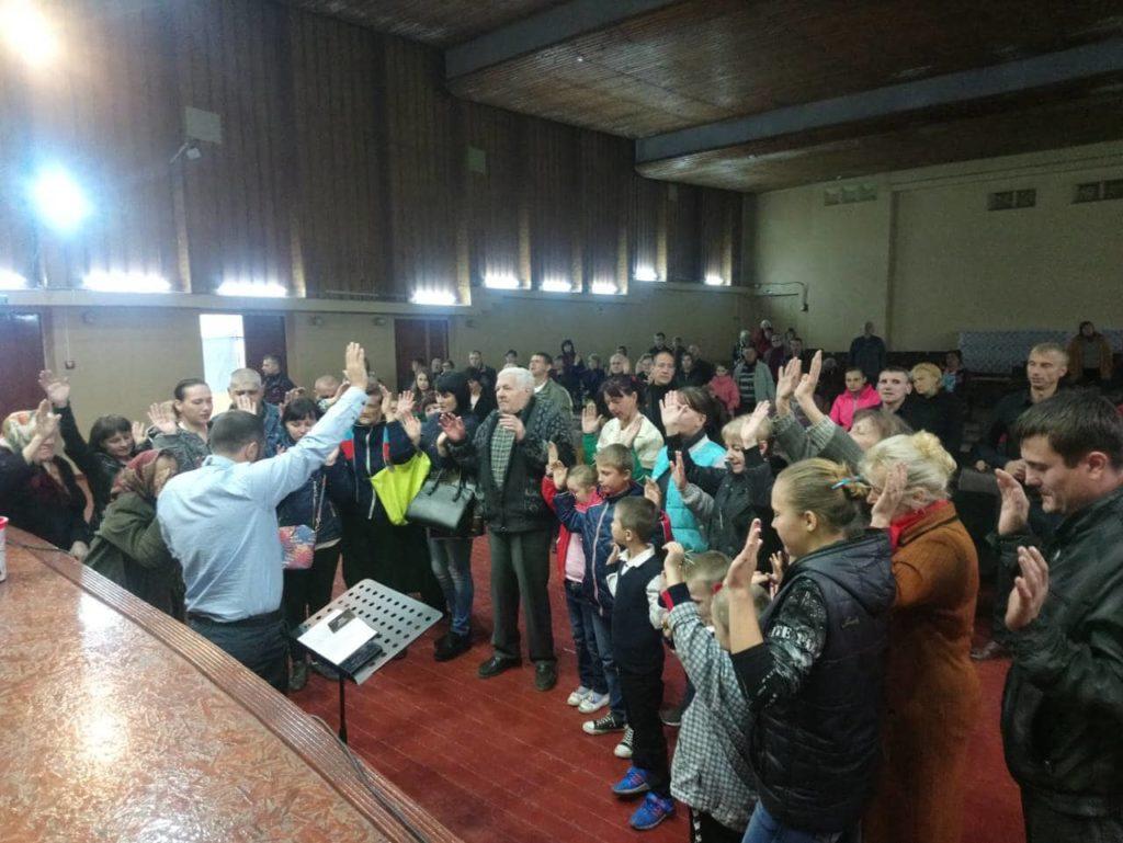 Открытие церкви в городе Торецк